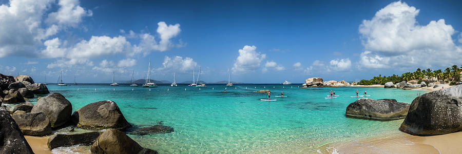 Beach Photograph - British Virgin Islands, Virgin Gorda by Walter Bibikow