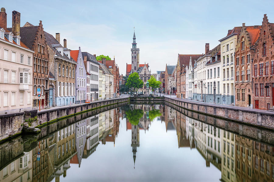 Canal Photograph - Brugge - Belgium by Joana Kruse