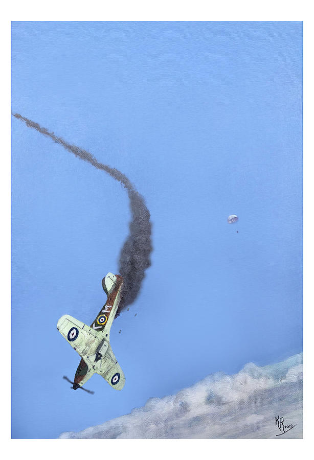Battle Of Britain Painting - 15 July 1940 - 213 Squadron by Kenny Reeves
