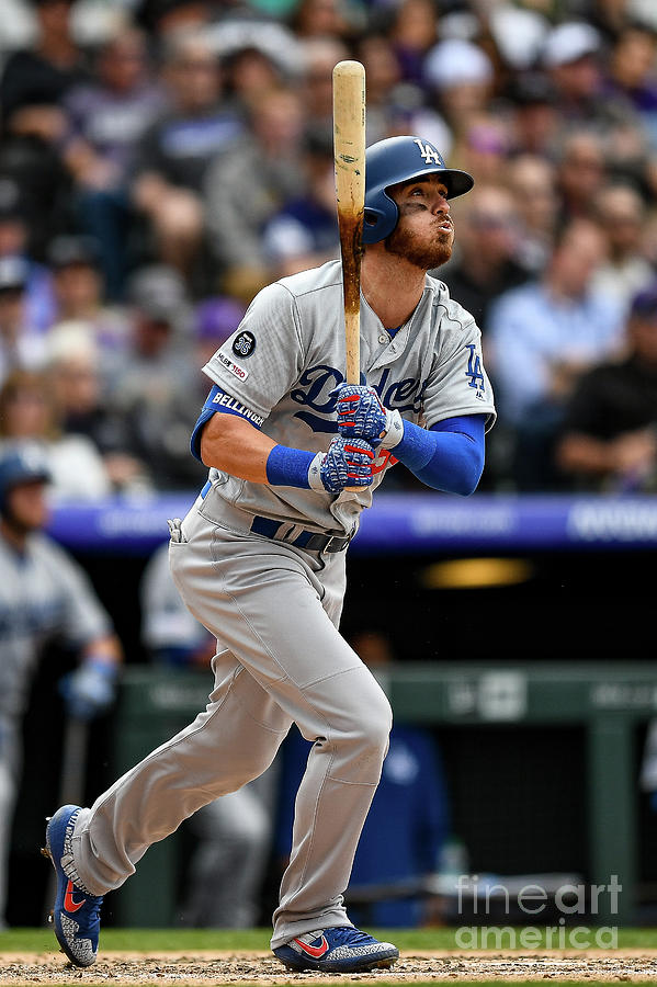 Los Angeles Dodgers V Colorado Rockies Photograph by Dustin Bradford