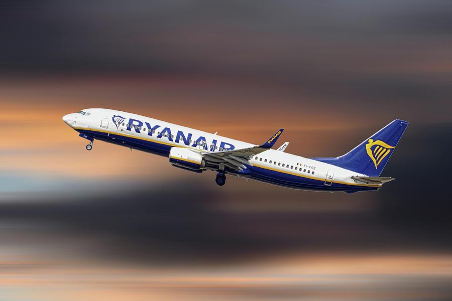 Ryanair Mixed Media - Ryanair Boeing 737-8as by Smart Aviation