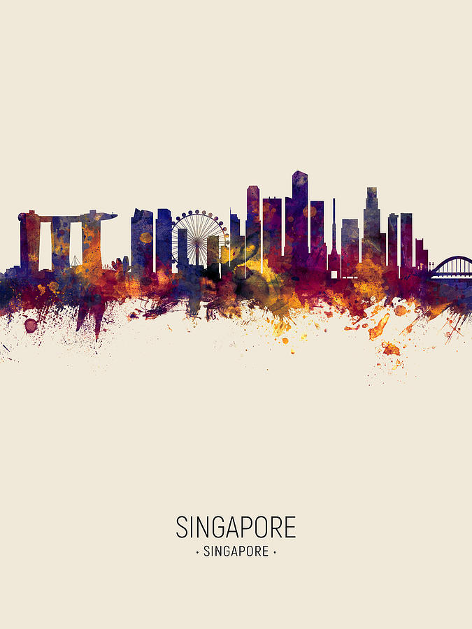 Singapore Skyline by Michael Tompsett