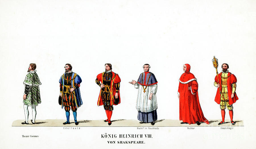 Theatre Costume Designs Drawing by Print Collector
