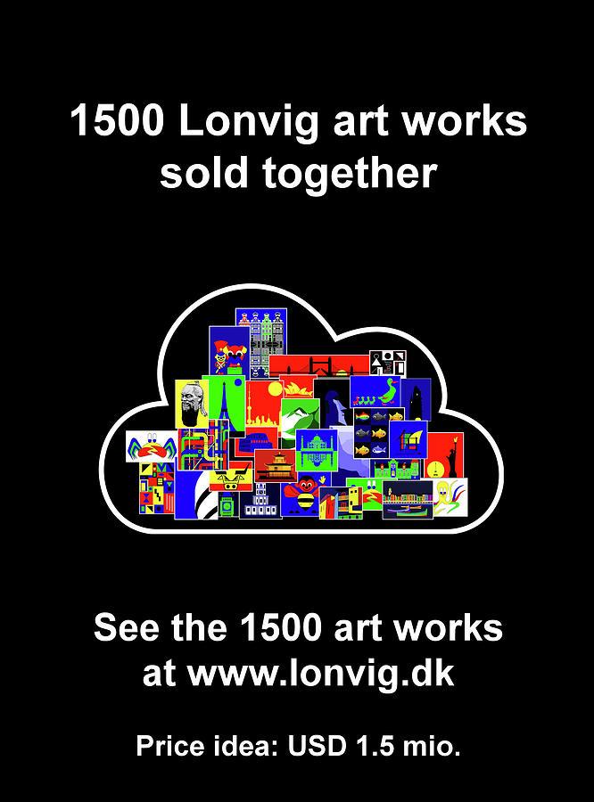1500 Lonvig art works by Asbjorn Lonvig