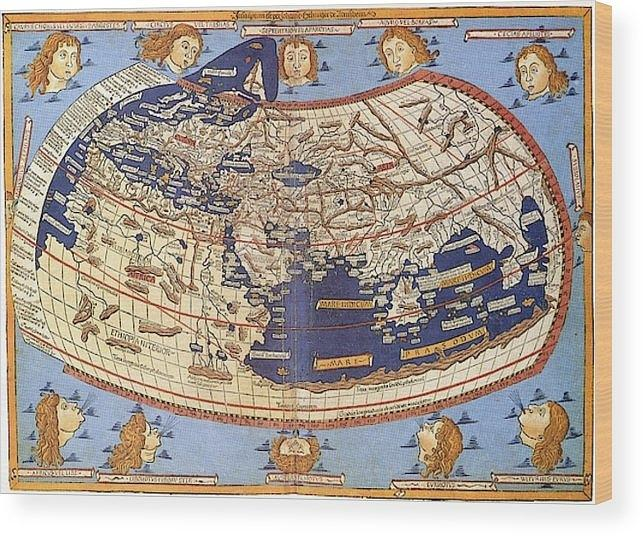 15th Century World Map 15th Century World Map Photograph by Claudius Ptolemy