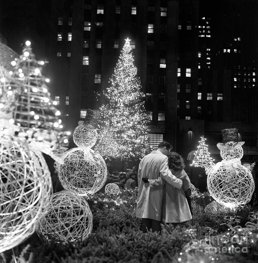 Christmas Tree At Rockefeller Center Photograph by Bettmann