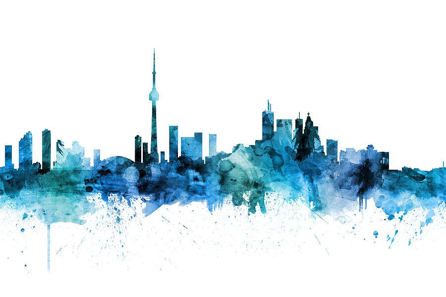 Toronto Digital Art - Toronto Canada Skyline 16 by Michael Tompsett