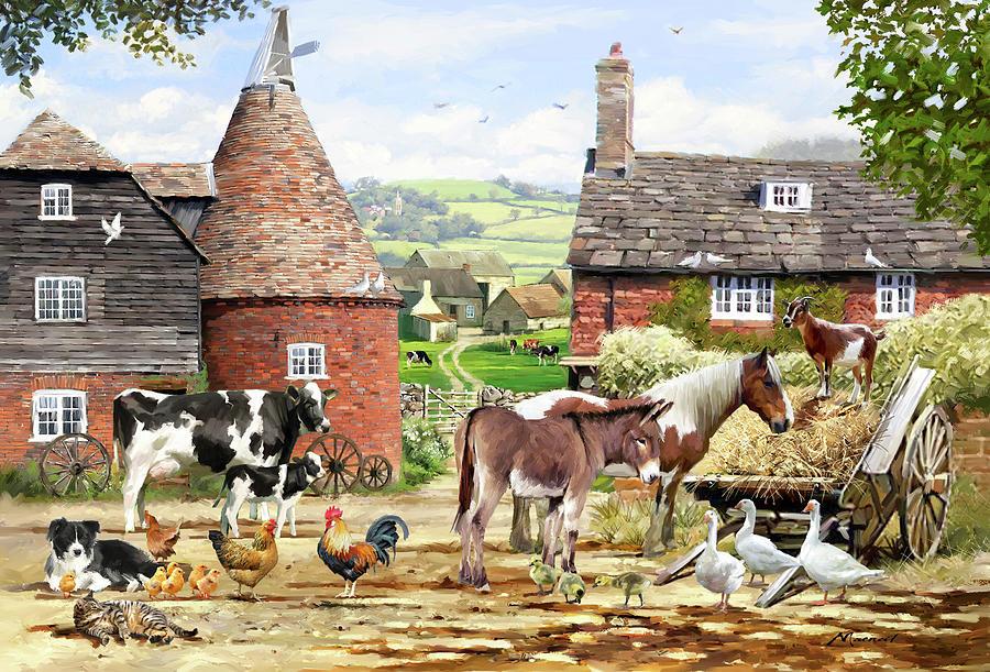 Farmyard Mixed Media - 1609 Farmyard by The Macneil Studio