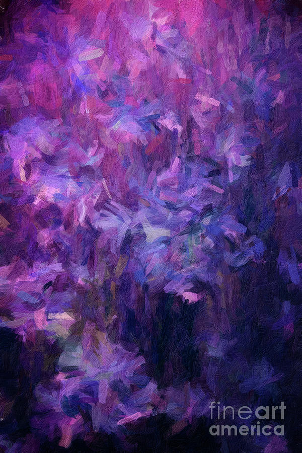 161 Abstract digital oil painting on canvas full of texture and brig by Amy Cicconi