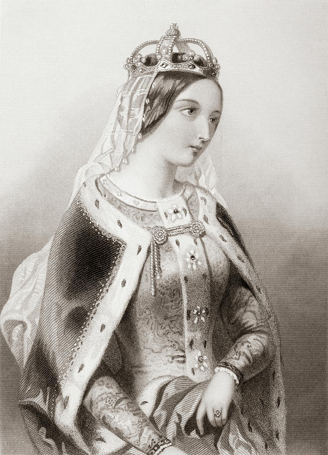 Century Drawing - Katherine Of Valois, 1401-1437. Queen Of King Henry V Of England.   by Ken Welsh