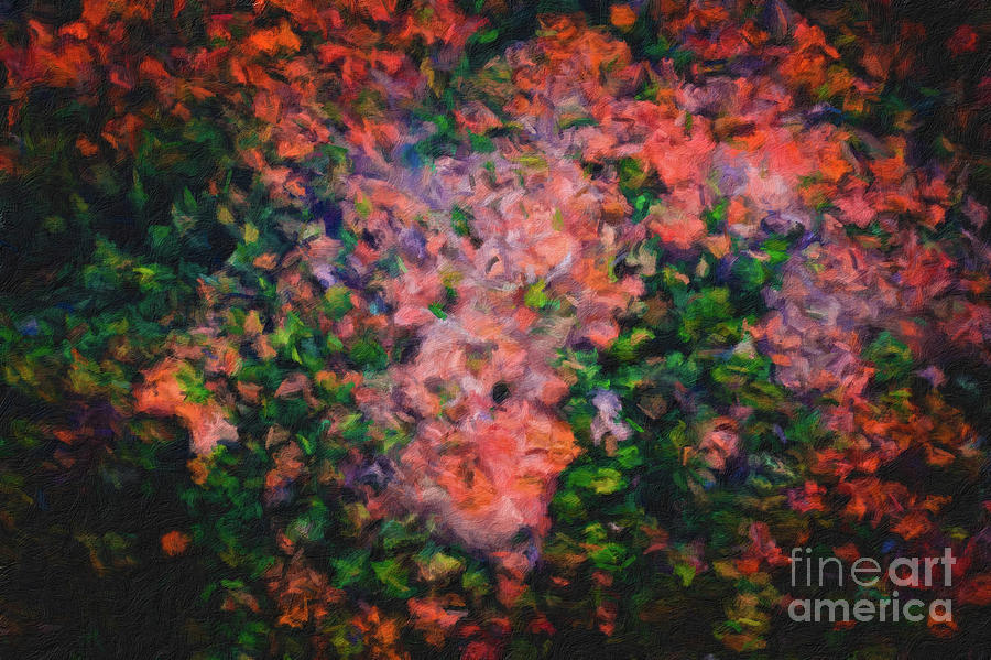 163 Abstract digital oil painting on canvas full of texture and brig by Amy Cicconi