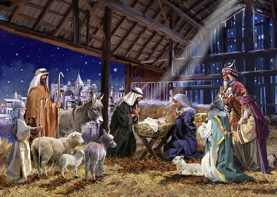 Religion Mixed Media - 1711(2) Nativity by The Macneil Studio