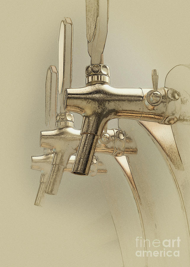 Beer Digital Art - Beer Tap by Allan Swart