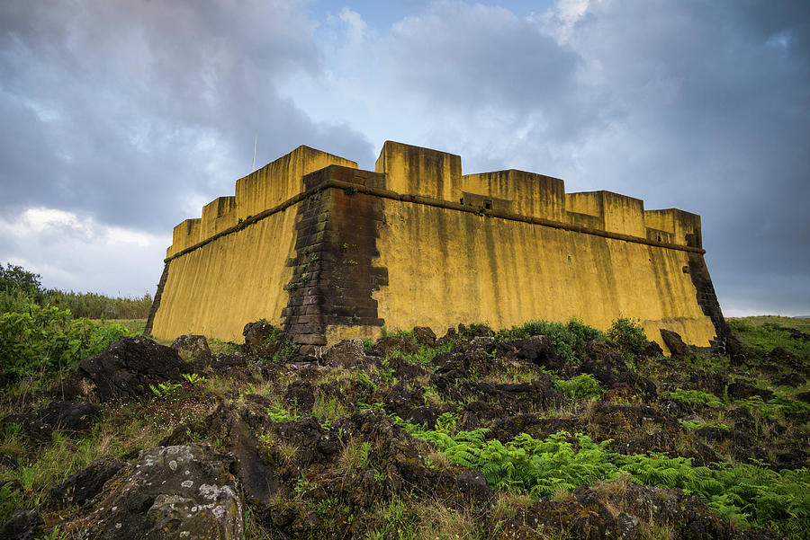 Building Photograph - Portugal, Azores, Terceira Island by Walter Bibikow