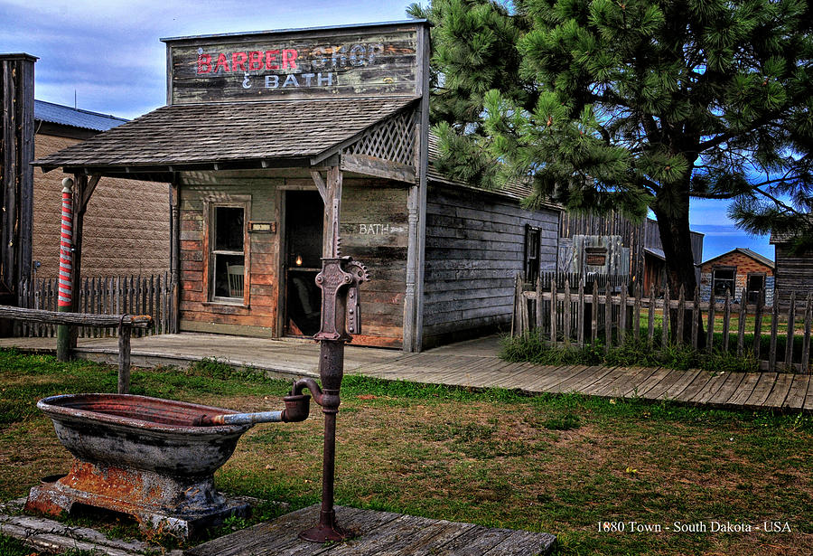 1880 Town in South Dakota United States of America by Gerlinde Keating - Galleria GK Keating Associates Inc