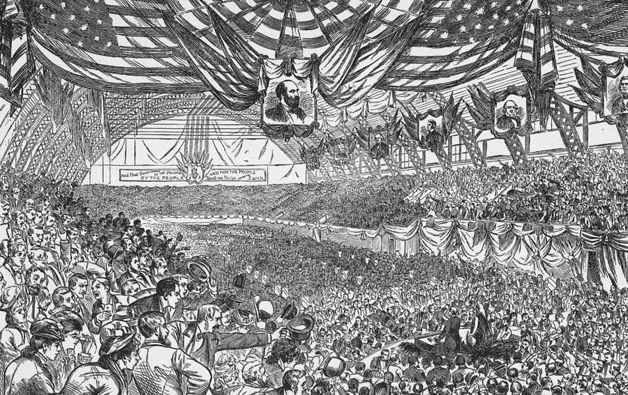1884 Republican National Convention Photograph by Kean Collection
