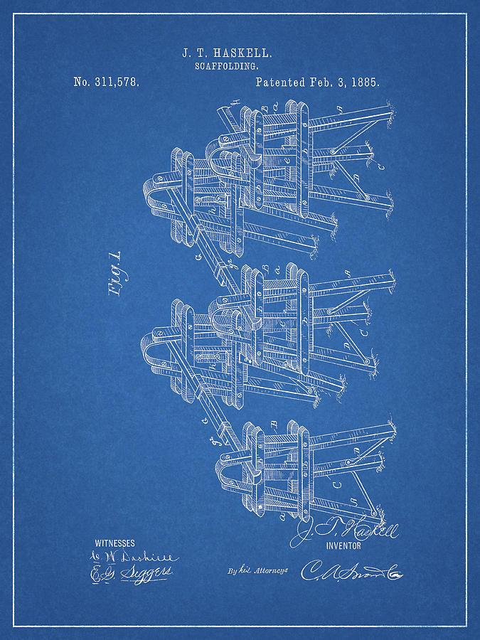 1885 Scaffolding Patent Drawing