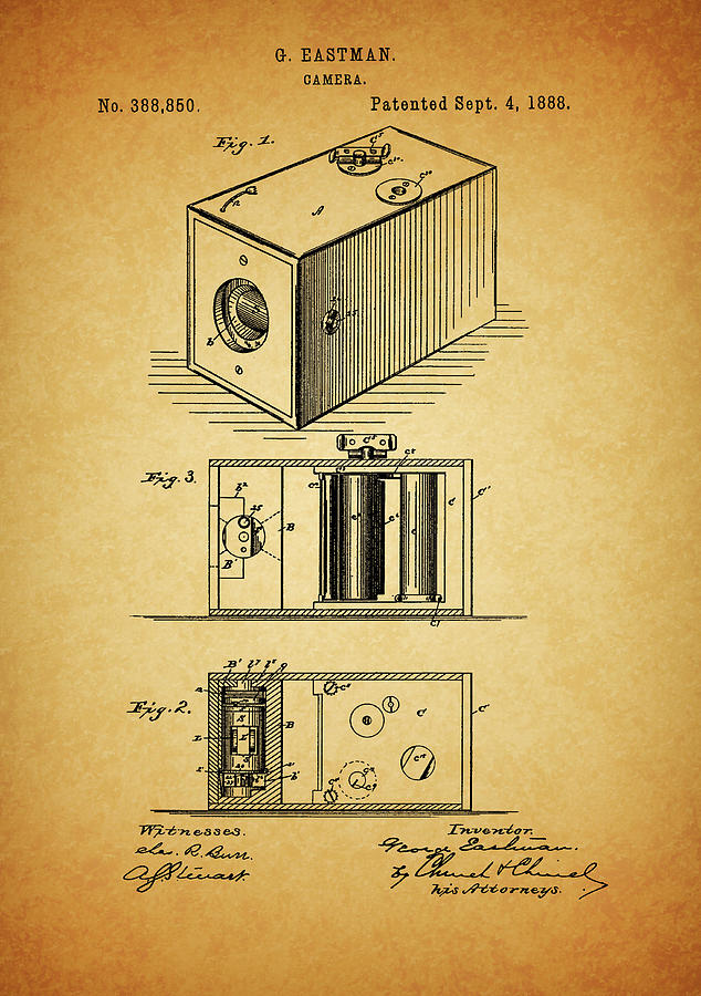 1888 Camera Patent by Dan Sproul