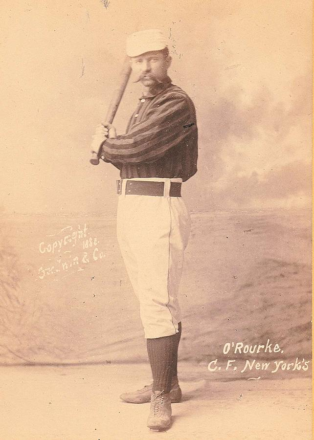1888 Old Judge Tobacco Cigarette Baseball Player Card Batter Up