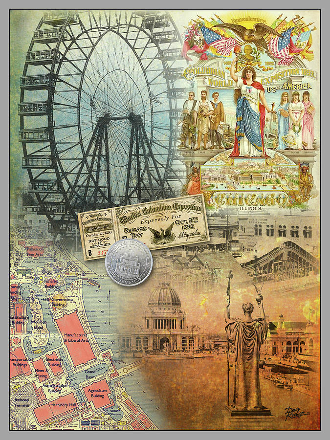 1893 Chicago Worlds Fair and Columbian Exhibition by Doug Kreuger