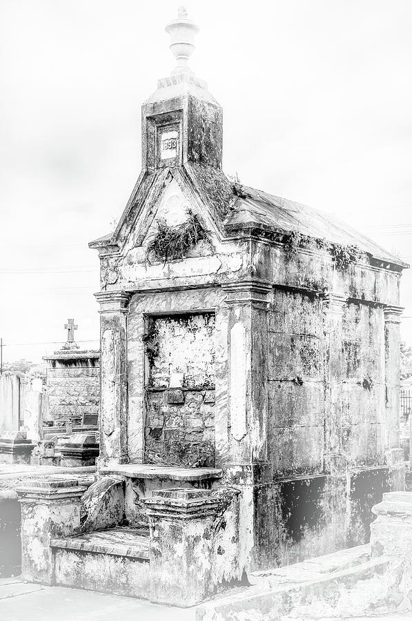 1893 Tomb Black and White New Orleans by Kathleen K Parker