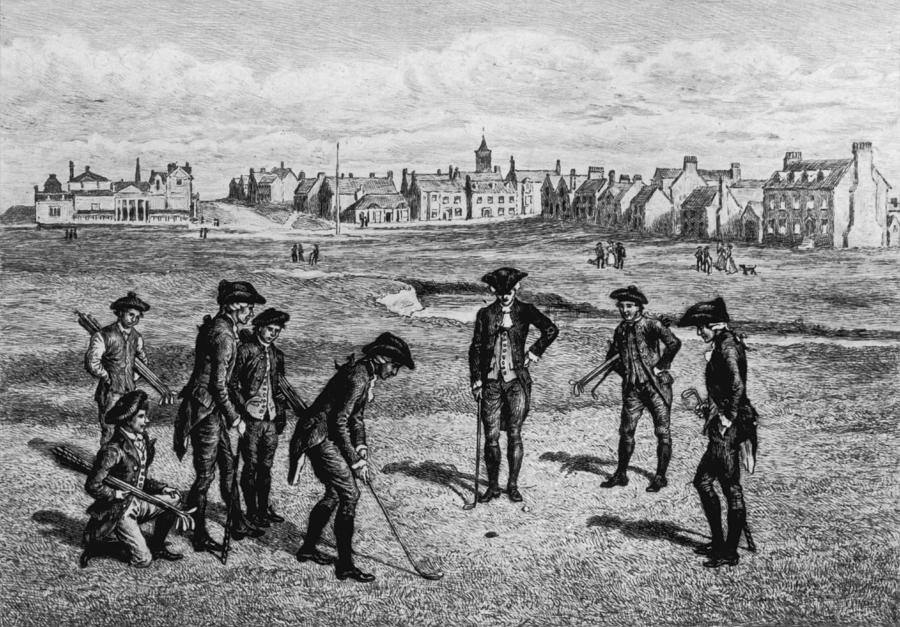 18th Century Golfers Photograph by Hulton Archive