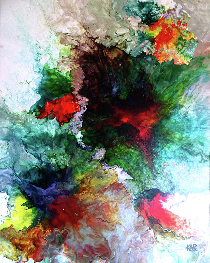 Abstract Painting - 18x24DP1 by Art by Kar