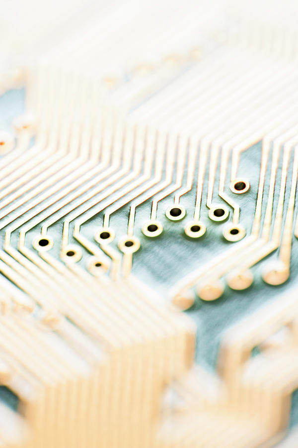 Close-up Of A Circuit Board Photograph by Nicholas Rigg