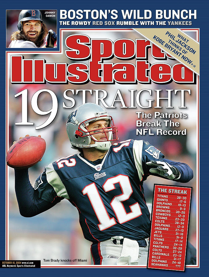 19 Straight The Patriots Break The Nfl Record Sports Illustrated Cover Photograph by Sports Illustrated