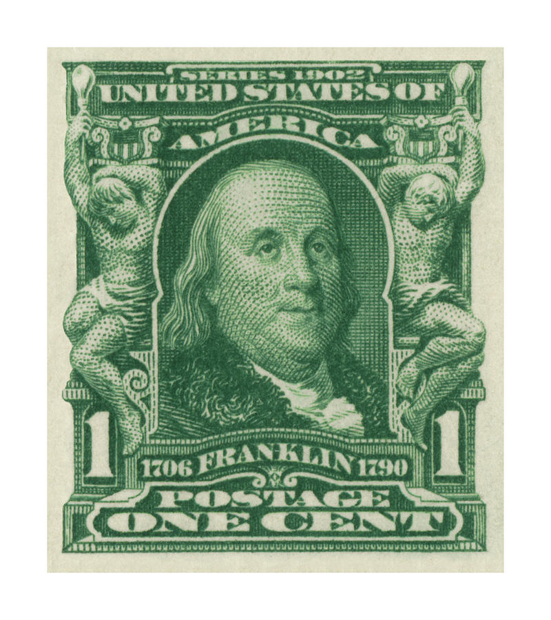 1902 Franklin Stamp Digital Art