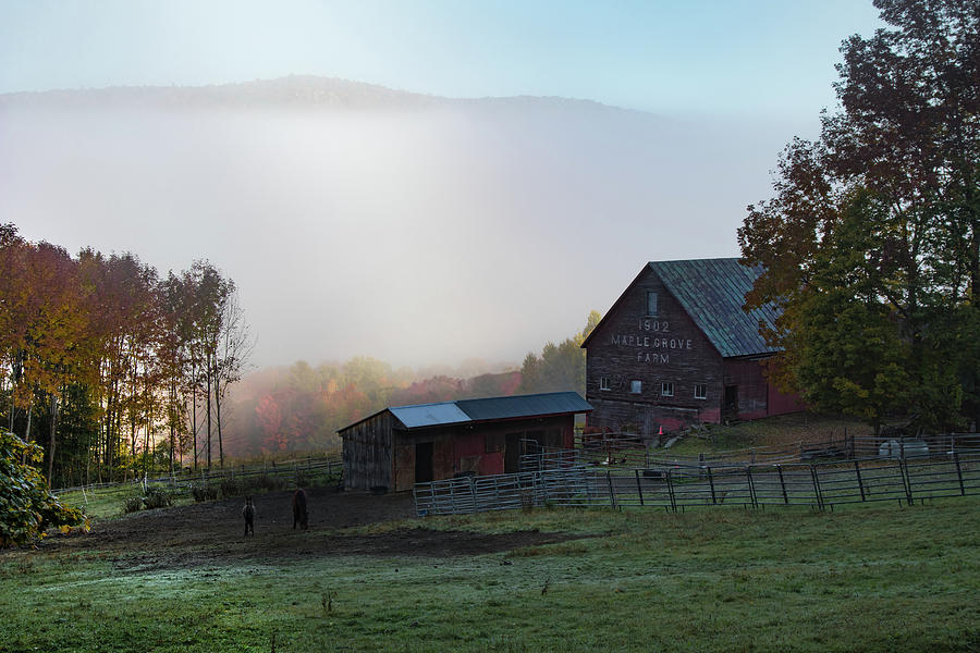 1902 Maple Grove Farm in Pomfret VT by Jeff Folger