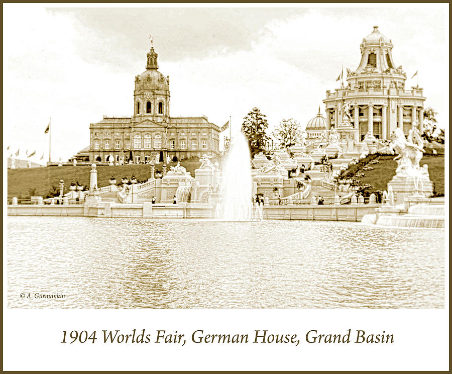 1904 Worlds Fair, German House, Grand Basin by A Gurmankin