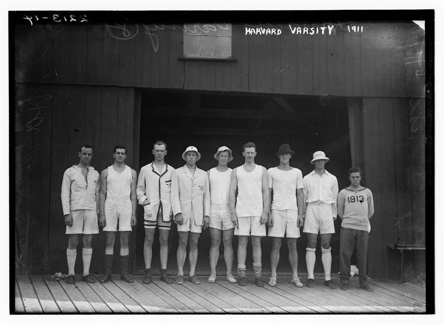 1911 Harvard Varsity Crew Painting
