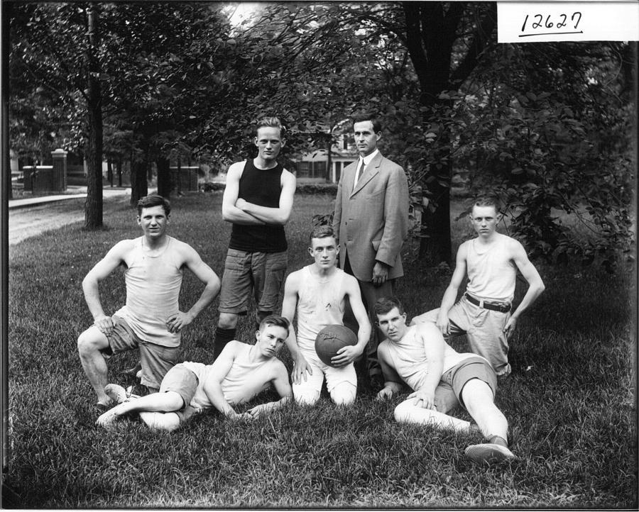 1912 Summer School Basketball Team  Miami U  Ohio Vintage Photograph Painting