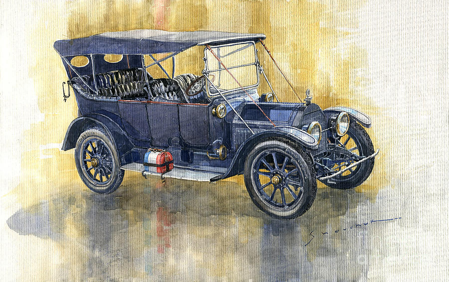 Automotive Painting - 1913 Cadillac Four 30 Touring by Yuriy Shevchuk