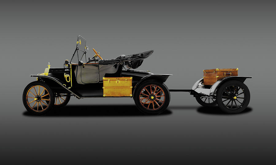 Show Car Photograph - 1914 Model T Ford Runabout Convertible  -  1914modeltfordconvertiblefine149300 by Frank J Benz