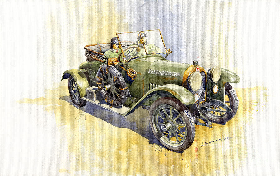 Automotive Painting - 1916 Praga Mignon by Yuriy Shevchuk