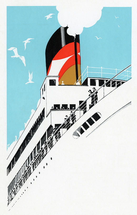 People Digital Art - 1920s Cruise Ship by Graphicaartis