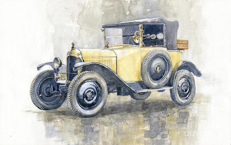 Automotive Painting - 1925 Citroen 5cv by Yuriy Shevchuk