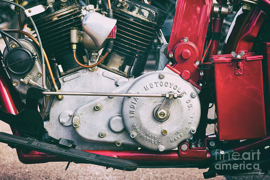 1924 Vintage Scout Engine by Tim Gainey