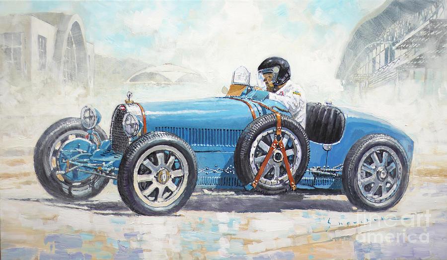 Automotive Painting - 1928 Bugatti Type 35  by Yuriy Shevchuk