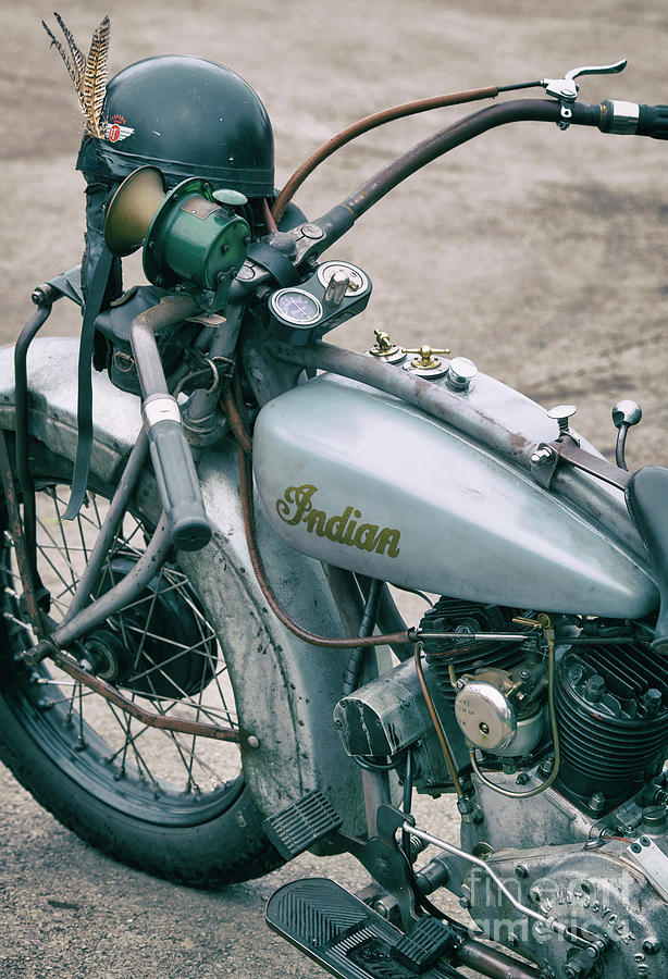 1928 Indian 101 Scout Motorbike by Tim Gainey