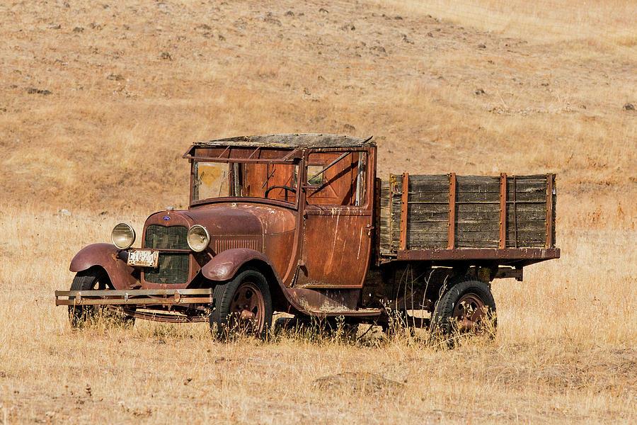 1930 Ford Model A Pickup by E Faithe Lester