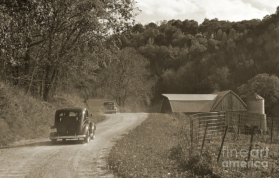 1930s Car Chase Photograph