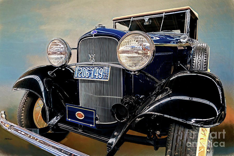 Cars Mixed Media - 1932 Ford Cabriolet Deluxe V8 Artistry by DBHayes