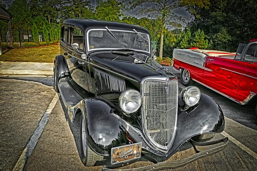 Old Cars Photograph - 1934 Beside 1955 1934 by Dennis Baswell