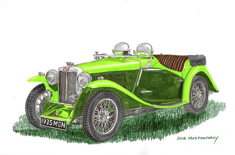 1935 M G  N B Roadster by Jack Pumphrey