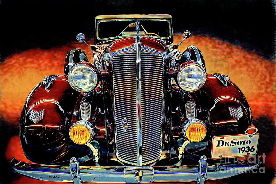 Cars Mixed Media - 1936 Desoto Artistry II by Dbhayes