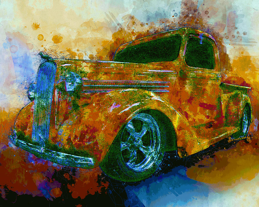 1936 Dodge Pickup Truck Street Machine Dream by Chas Sinklier