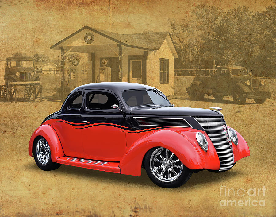1937 Ford Coupe Street Rod Photograph